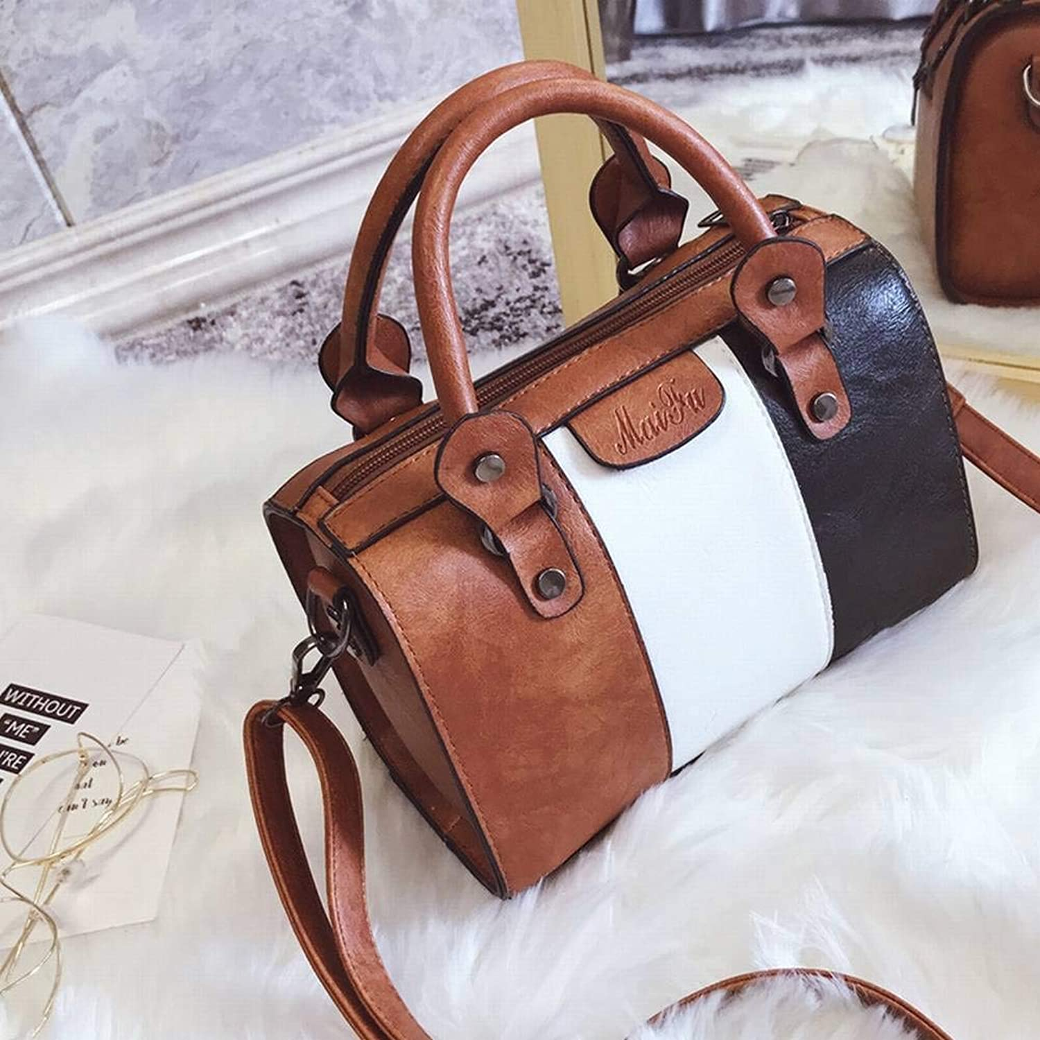 Creative Fashion MultiFunction Pu Horizontal Square Female Shoulder Bag Pure color Female Small Backpack for Women