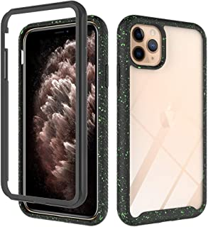 Transparent Hard PC Case Compatible with iPhone 11 Pro Max 6.5 inch Display Case,Crystal Clear Slim Protective Heavy Duty Cover Soft TPU Bumper Edges & Transparent Hard PC Back Hybrid Cases