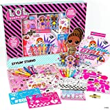 L.O.L. Surprise! Stylin' Studio by Horizon Group USA,Decorate LOL Surprise Paper Dolls With 250+ Accessories,Includes DIY Activity Book, Scratch Art,Sticker Sheet,Coloring Pages,Markers,Crayons & More , Pink