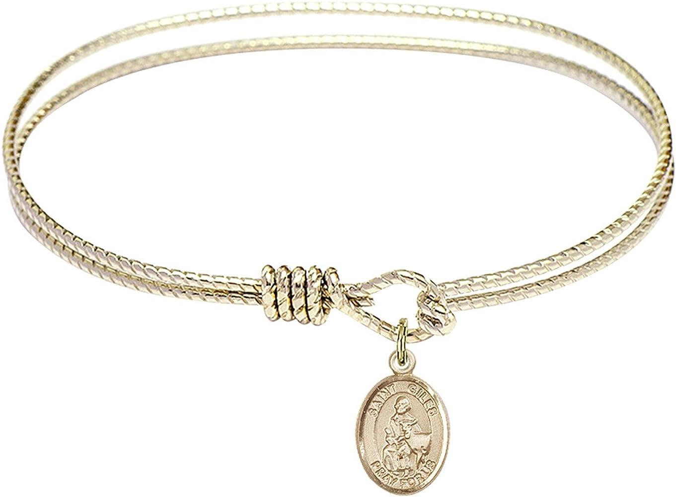 Bonyak Kansas City Mall Jewelry Oval Eye Hook New Free Shipping Bangle w in Giles Gold St. Bracelet
