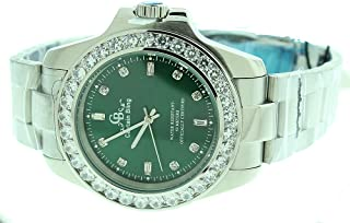 Full Stainless Steel Watch-iced Out Bezel- Genuine CZ-Water Resistant with Box#12