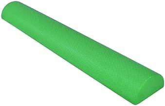 YogaAccessories 36'' Half Round EVA High Density Foam Roller - Green