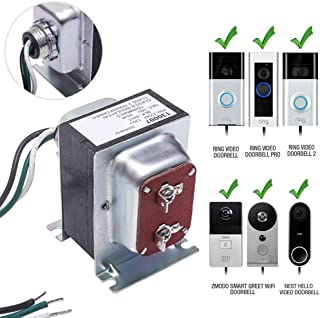 Doorbell Transformer, 16V, 30VA Comptible with Ring Pro,Nest hello, UL Certified