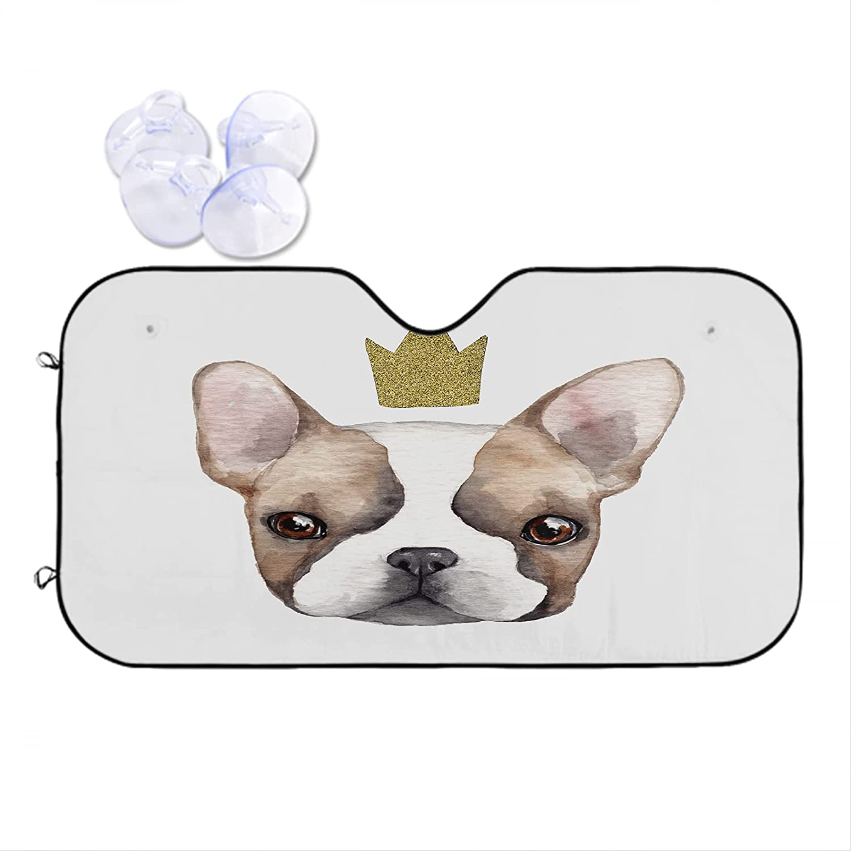 Nicokee Cute French Bulldog with Crown 2021 new Animal Shade Car Louisville-Jefferson County Mall Sun Dog