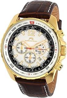 [ポーサモブルー] Porsamo Bleu 腕時計 Martin Genuine Leather Gold Tone & Brown Men's Watch 日本製クォーツ 351BMAL メンズ 【並行輸入品】