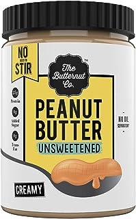 The Butternut Co. Peanut Butter No Stir Unsweetened Creamy No Added Sugar, High Protein, Keto Friendly, Vegan Peanut Butter (1 kg)