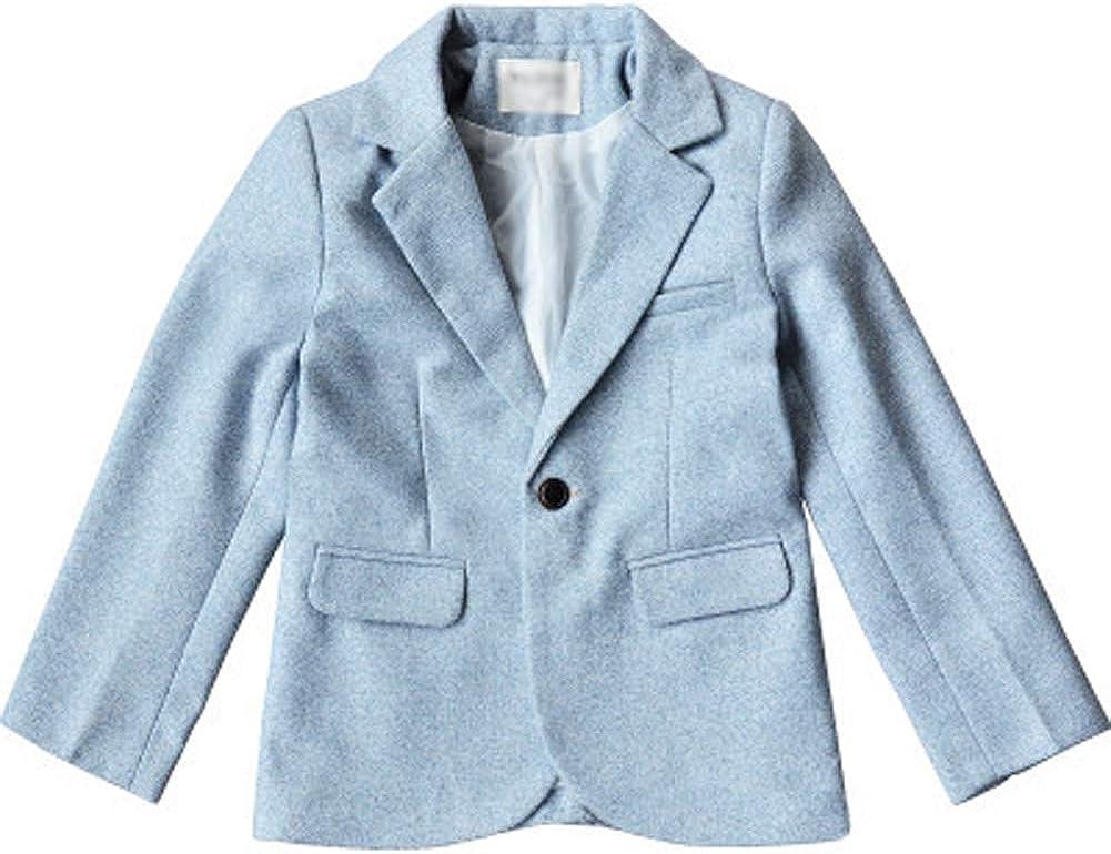 Boys Kids Casual Formal Wedding Party Button Blazer Suit Jacket Tuxedo