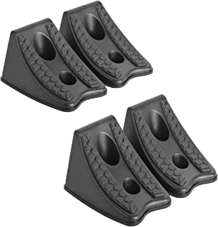 DEDC Heavy Duty Wheel Chocks for Caravan Car Wheel Stoppers Tire Chocks 4 Pack, RV Trailer ATV Truck Tire Wheel Blocks