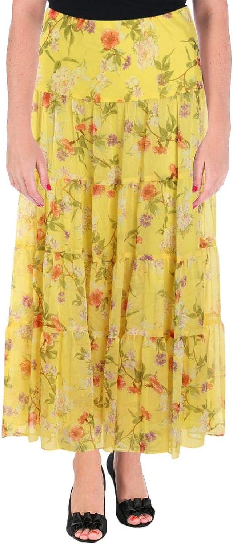 Lauren Ralph Lauren Womens Moriah Floral Print Long Maxi Skirt