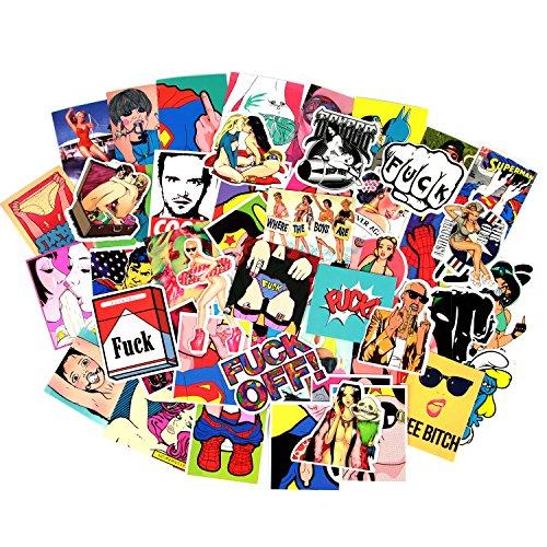 Sexy Stickers Vinyl-Aufkleber für Stoßstange, Gitarre, Gepäck, Skateboard, 52 Stück