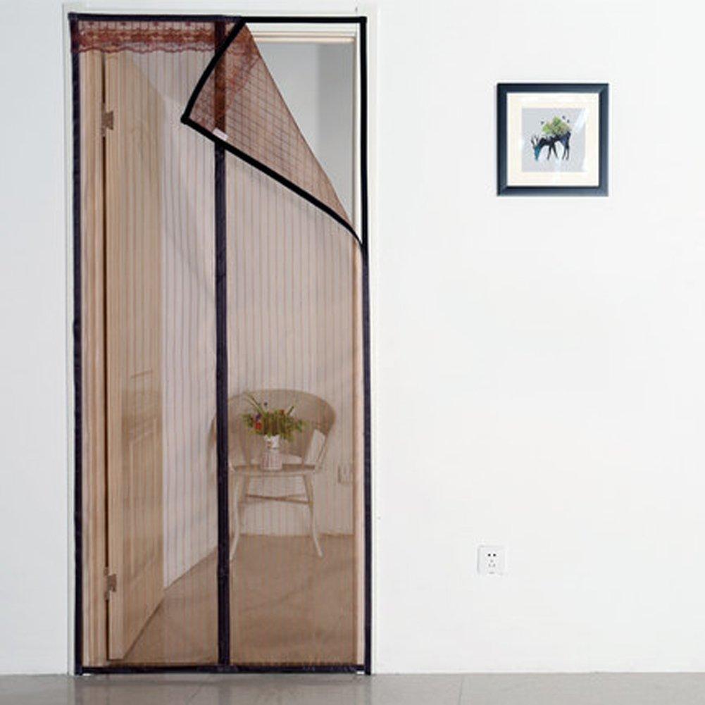 Mosquitera puerta magnética cubierta con cortina de malla ...