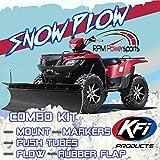 RPM KFI ATV 60' Poly Snow Plow kit Combo Yamaha Grizzly 660 700 2002-2020
