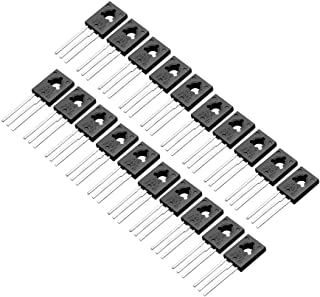 uxcell 20 Pcs D882 Transistor 3A TO-126 NPN 3 Pins PCB Through Hole Bipolar Transistor 30V 3A 1.25W