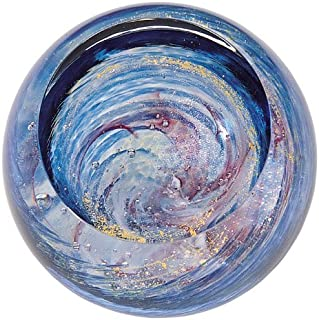 Glass Eye Studio Milky Way Blown Glass Paperweight