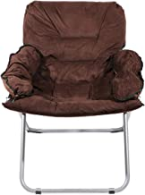 Chair Trips Comfortable Velvet, Brown, Al016