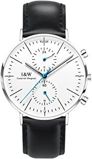 Carnival Watches for Men Water Resistant Dress Quartz Watch with Chronograph