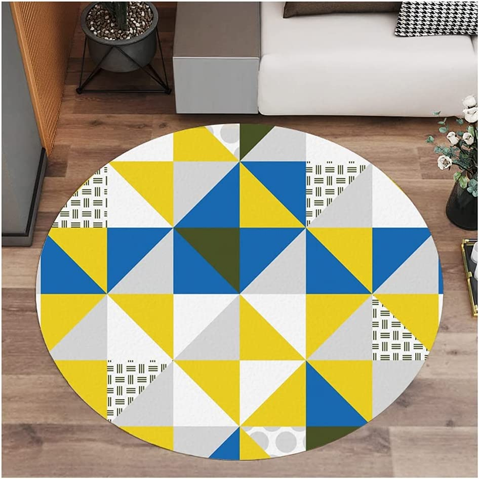 zdz 47 X Selling and selling Inchs Hard Floor High material Round Yellow Cushion Chair PCV Mate