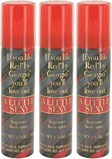 Designer Imposters A Little Sexy by Parfums De Coeur Body Spray 2.5 oz for Women - 100% Authentic (Pack of 3)