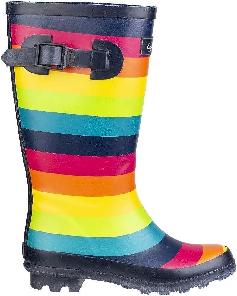 Cotswold Children Rainbow Wellies PVC Rain Wellington Boots Kids Sizes 20 to 32