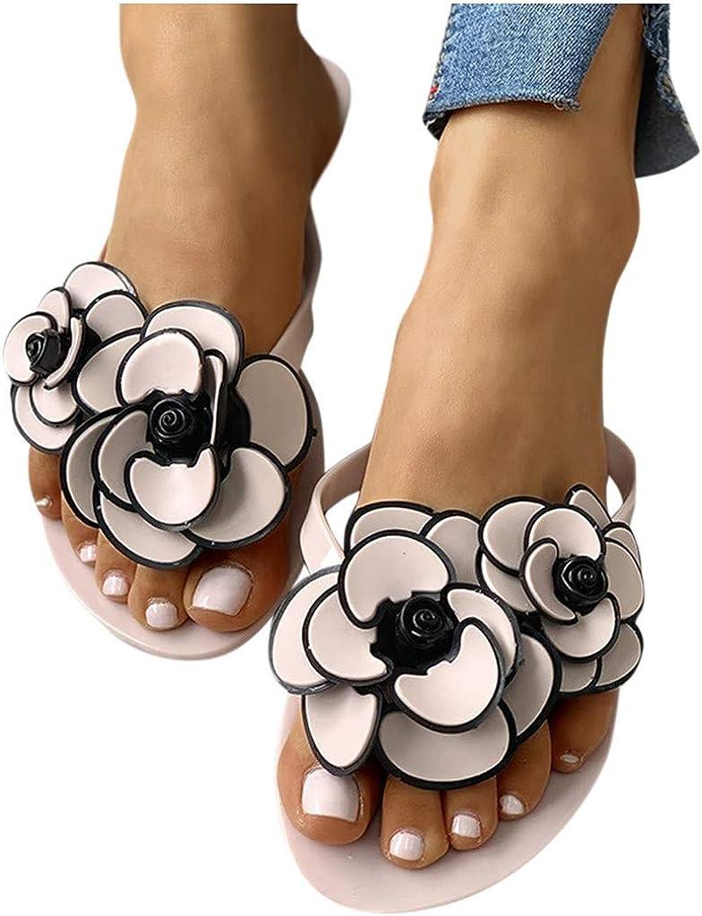 Sandals for Women, Comfy Shining Diamond Flats Roman Shoes Casual Summer Beach Travel Indoor Outdoor Slipper