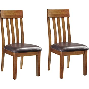 Signature Design by Ashley Ralene Dining Room Chair Set of 2, Medium Brown