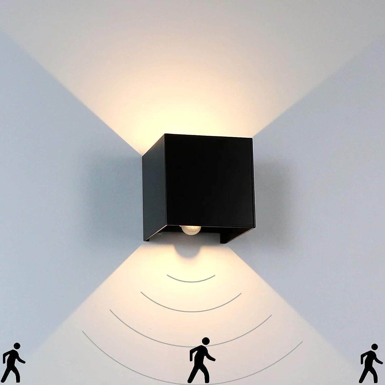 LED Wall Max 64% OFF Light Very popular PIR Waterproof Motion Sensing IP65