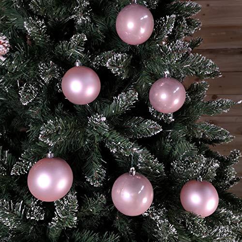 Set di 6 palle di Natale Amara Rosa