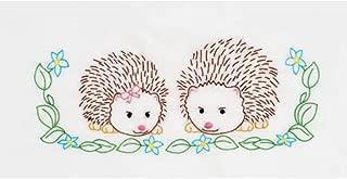 Jack Dempsey JDN1605.861 Children's Hedgehogs Pillowcase