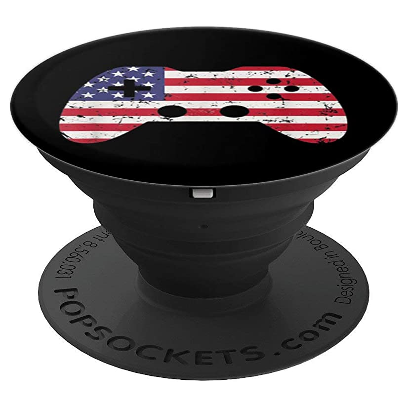4th Of July USA Flag T-Shirt Video Game Gamer Kids Boys Gift - PopSockets Grip and Stand for Phones and Tablets