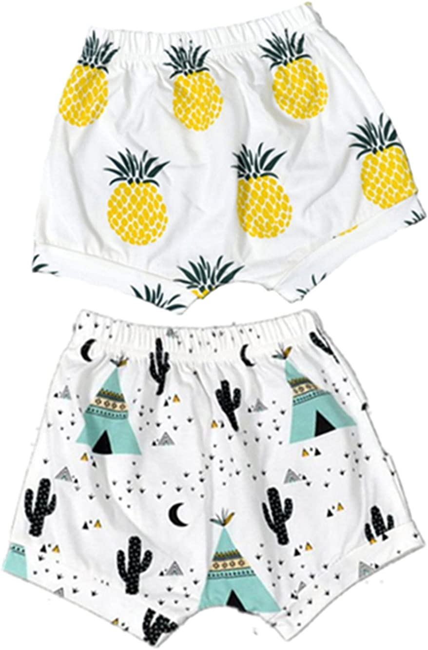 Max 75% OFF BIGBUY 2pcs Summer Baby Fruit Printed Pants Harem Shorts OFFicial store Cotton