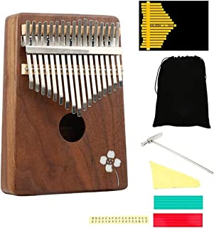 Musical Instruments Beginners Kalimba 17/10 Keys Thumb Piano, Portable Finger Piano With Tune Hammer And Study Instruction...