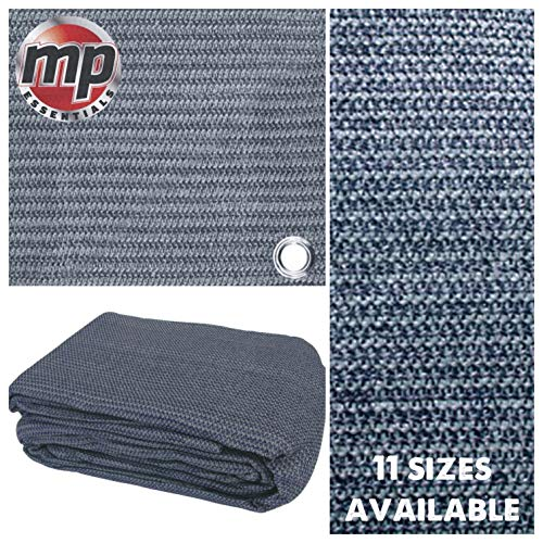 MP Essentials Weaved Supreme Rot Weatherproof Ground Covering Groundsheet Tent & Awning Carpet - BLUE & GREY (2.5 x 4.5m)
