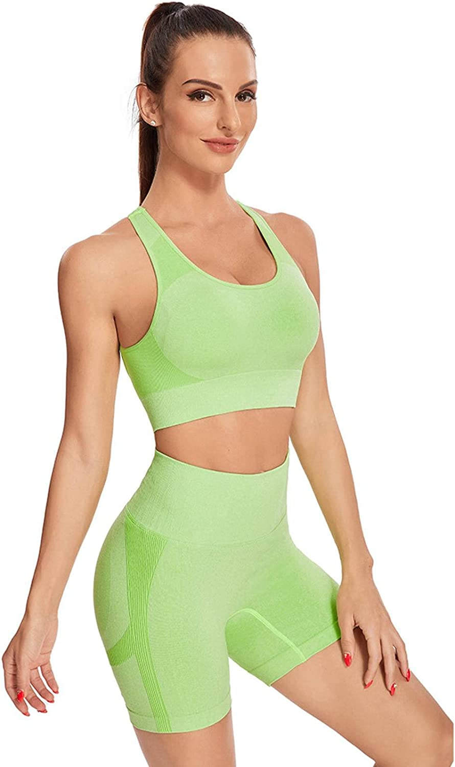 N\C Seamless Knitted Suit Feminine Sports of Short-Sleeved specialty shop Sense Inexpensive