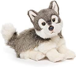 Small Wolf Friend Wispy Charcoal Children's Plush Stuffed Animal Toy