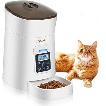 自動給餌器 猫 犬用 自動餌やり機 1日6食 最大15日給餌可能 空給餌検知と音声録音機能 自動給餌機 日本語説明書付 OGORI