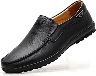 VanciLin Men's Casual Leather Slip on Penny Loafers Shoes