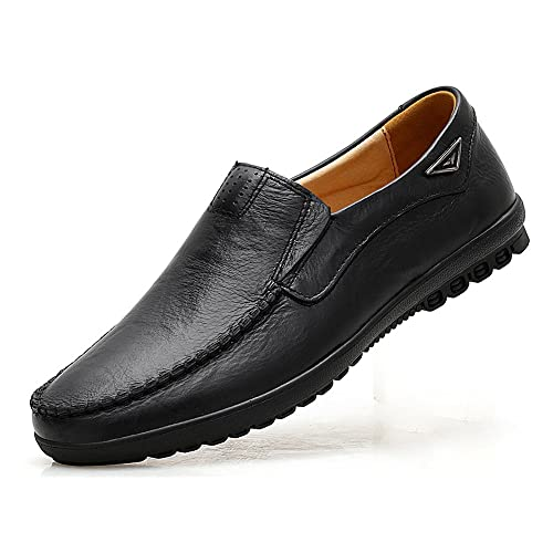 VanciLin Mens Casual Leather Slip on Penny Loafers Shoes
