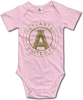 Badou Atlanta United for 6-24 Months Toddler Short Sleeve Romper Bodysuit Pink