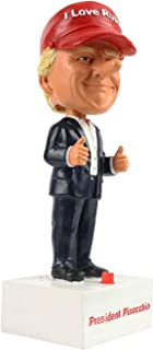 Pinocchio Trump Talking Bobblehead Toy – Anti Donald Trump Doll in I Love Russia Hat Spouts Fake News at The Touch of a Button as a Funny Prank Gift or Stocking Stuffer for Men and Women