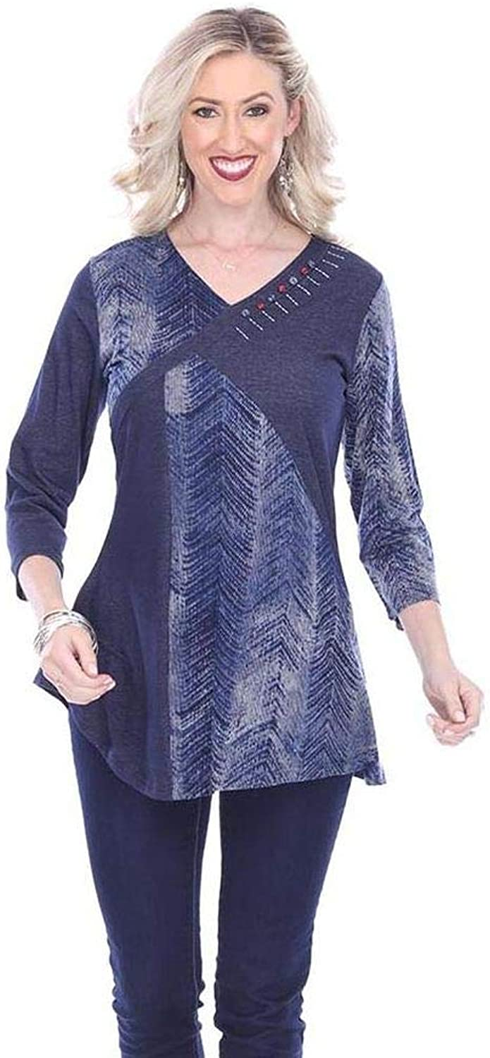 Parsley & Sage Women's Hannah Fancy Tunic Top