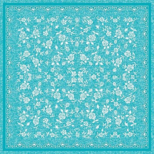 Mank Tischdecken aus Airlaid   Mitteldecken 80 x 80 cm Tischdecke für Gastronomie   20 Stück   Lace (Türkis)