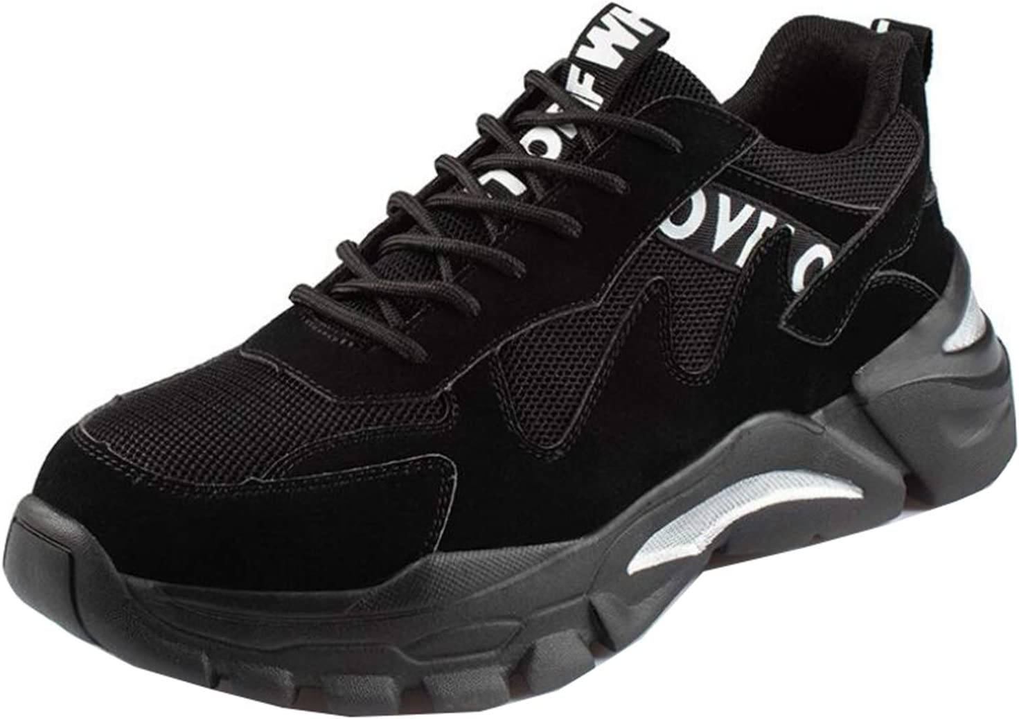 YLJXXY Men's Work Safety ShoesBreathable Indestructible Construction Steel Toe Footwear Industrial Lightweight Breathable Boots,Black,43
