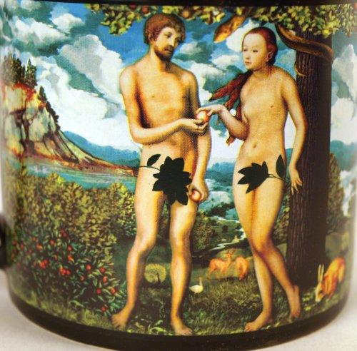 Adam & Eve Disappearing Fig Leaf Mug