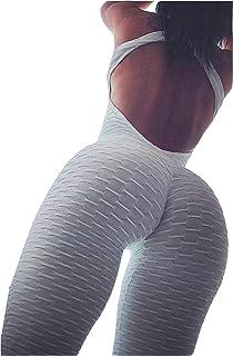 3c54d64bb206 MarcoJudy Womens Butt Lift Yoga Jumpsuit Sleeveless Backless Sport Bandage  Romper Playsuit