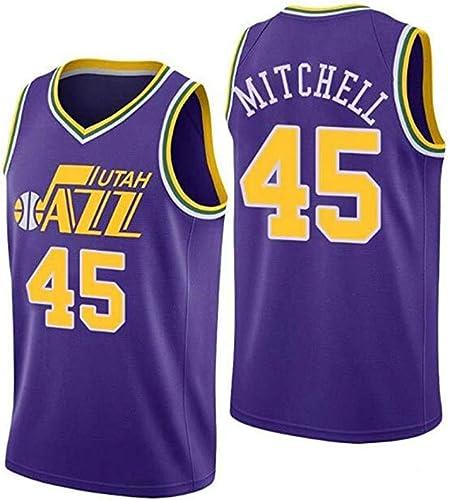 HJM Donovan Mitchell   45 Jersey Basketball Masculin - NBA Utah Jazz, nouveau Jersey sans Manches