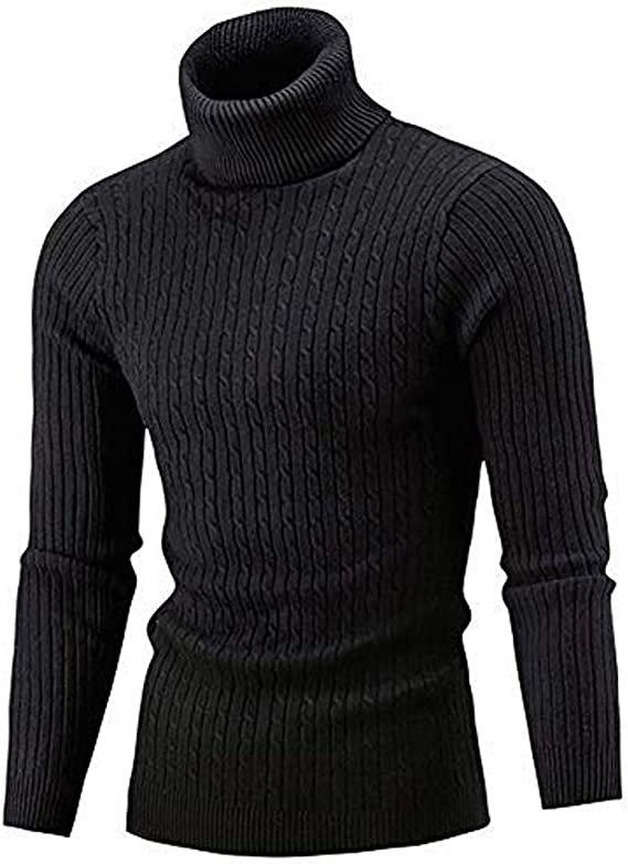 1960s Mens Shirts | 60s Mod Shirts, Hippie Shirts AIDEAONE Mens Turtleneck Sweater Casual Ribbed Slim Fit Knitted Jumper High Roll Neck Basic Turtleneck Pullover £24.99 AT vintagedancer.com