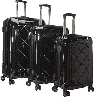 M Tech4 3 Piece Spinner Luggage Set (Black)