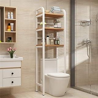 YAzNdom Estanteria sobre Inodoro WC Cuarto de baño del Tubo de Ahorro de Espacio Libre-de pie sobre el Inodoro de Almacena...