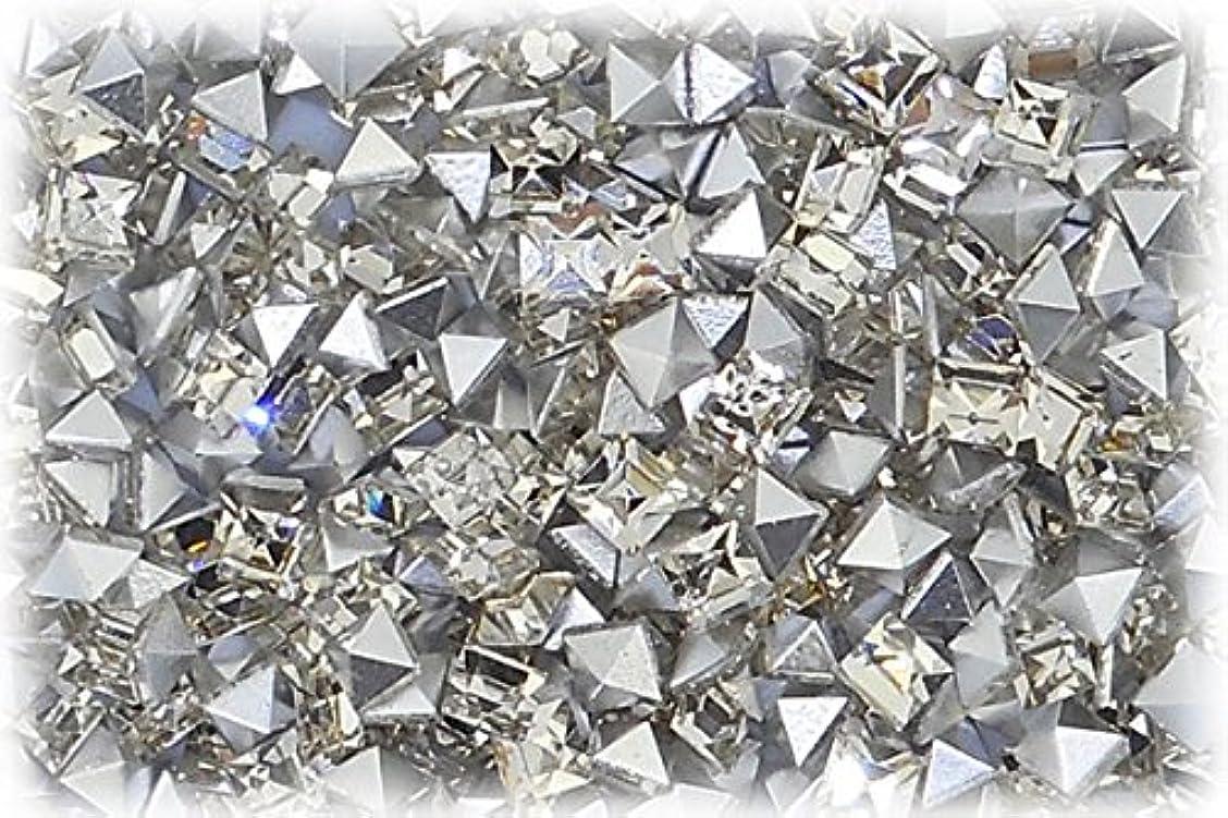 違反する繰り返す眼SHAREKI CRYSTAL Vカット チャトン ラインストーン スクエア 四角形 クリスタル 3mmx3mm 10個入りx3セット=30個 cry-3x3