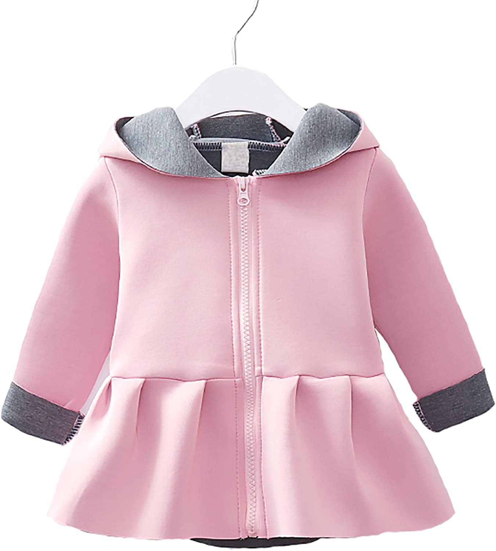 Max Cheap bargain 47% OFF Cahayi Baby Girl Dress Coat Outwear Hooded Toddler Kid Ear